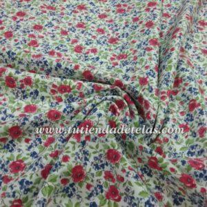 Flor azulona y roja  7,98€/metro