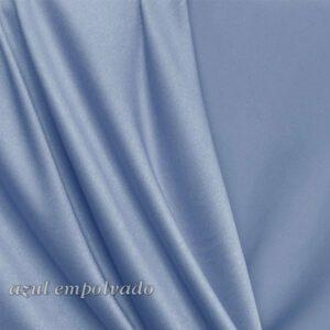 Crep satén licra azul empolvado color 11